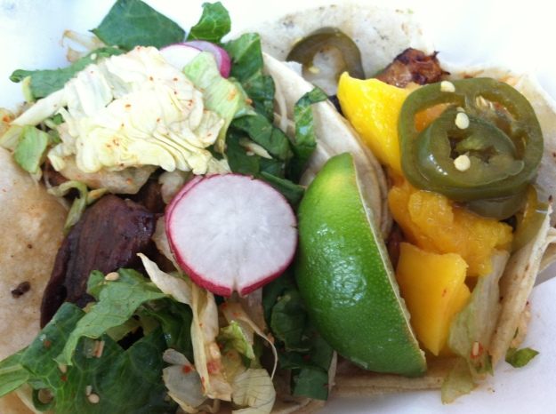 L: Short Rib Korean Taco R: BBQ Eel Taco