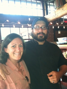 Chef Isaiah Allen and owner, Claire Haslem
