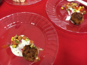 B.Christophers crabcake with relish and aioli 8-14
