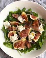 Arugula, burrata, figs, pancetta